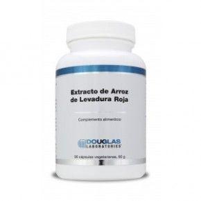 Extracto de Arroz de Levadura Roja, Douglas, 90 cápsulas. Monacolina K.