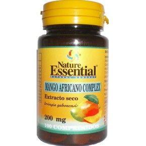 Mango Africano Complex de Nature Essential, 100 comprimidos. Mango, vinagre de manzana, té verde.