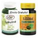 Pack 6-Adelgazar (espirulina bio+café verde)