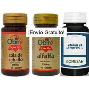 Pack 1-Osteoporosis (cola de caballo+alfalfa+vitamina D)
