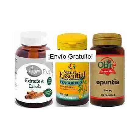 Pack 1-Diabetes (canela, fenogreco y opuntia)