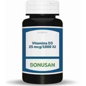 Vitamina D3 25 mcg (1000 UI) Bonusan ,90 cápsulas