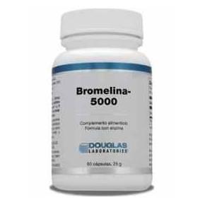 Bromelina 5000 Douglas, 60 cápsulas