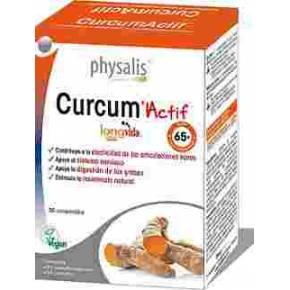 Curcum Actif Physalis (70% curcumina) 30 comprimidos de cúrcuma