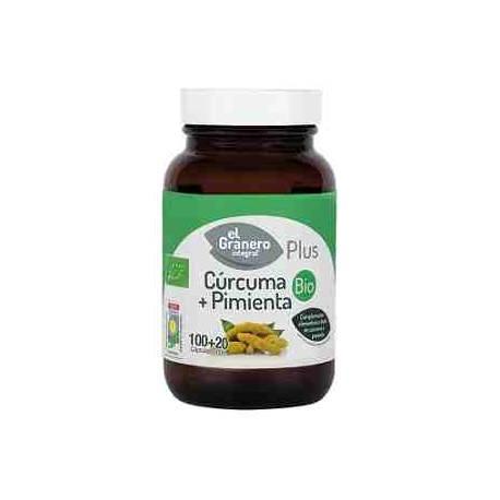 Cúrcuma + Pimienta Bio 120 cápsulas El Granero Integral