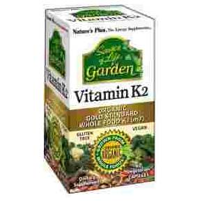 Vitamina K2 Natures Plus 120 mcg 60 cápsulas