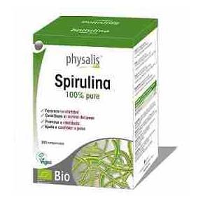 Espirulina Bio 100% pura Physalis 200 comprimidos