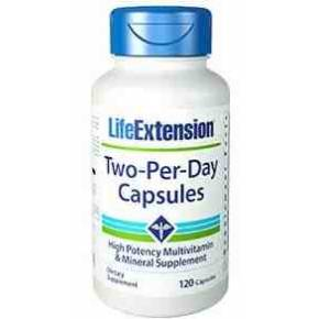 Two Per Day Life Extension 120 cápsulas
