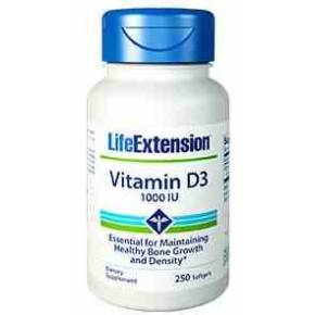 Vitamina D3 1000 UI Life Extension 250 perlas