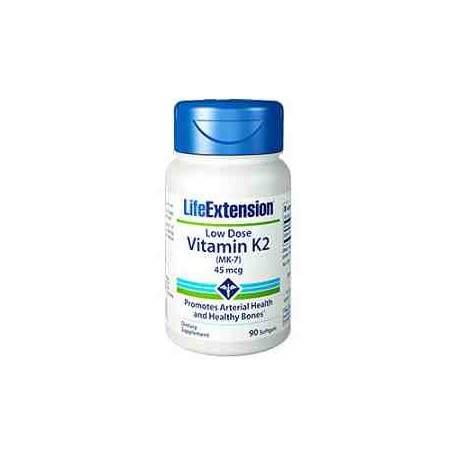 Vitamina K2 MK-7 45 mcg Life Extension 90 perlas