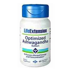 Ashwagandha Optimizada Life Extension 60 cápsulas