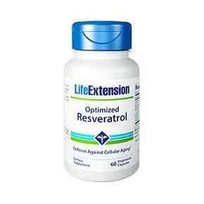 Optimized Resveratrol Life Extension 60 cápsulas 250 mg
