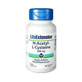 N-Acetyl-L-Cysteine 600 mg Life Extension 60 cápsulas