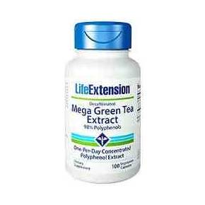 Mega Green Tea Extract Life Extension 100 cápsulas - Té Verde Descafeinado
