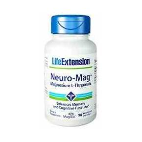 Neuro-Mag Life Extension - L-Treonato de Magnesio 90 cápsulas