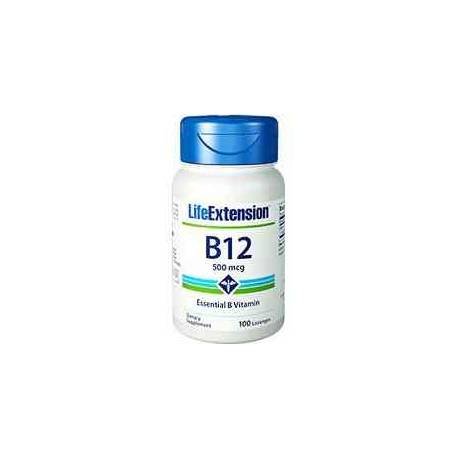 B12 Sublingual Life Extension 500 mcg 100 pastillas