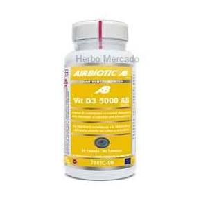Vitamina D3 5000 UI Airbiotic 90 comprimidos
