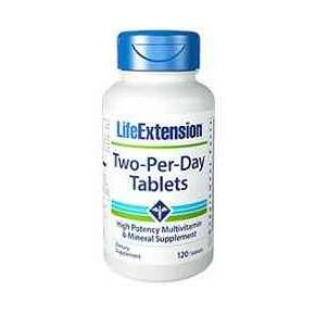 Two Per Day Tablets Life Extension 120 comprimidos