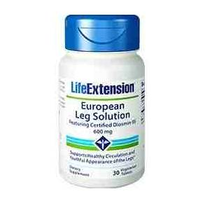 European Leg Solution Life Extension - Diosmina 30 tabletas - Piernas Cansadas