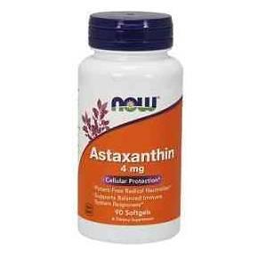 Astaxantina 4 mg NOW 60 cápsulas