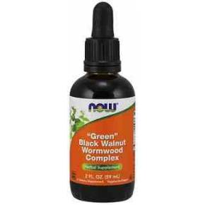 Nogal Negro y Ajenjo Complex 59 ml NOW Foods - Black Walnut
