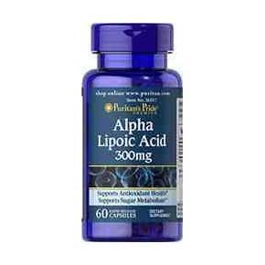 Acido Alfa Lipoico 300 mg Puritans Pride 60 cápsulas