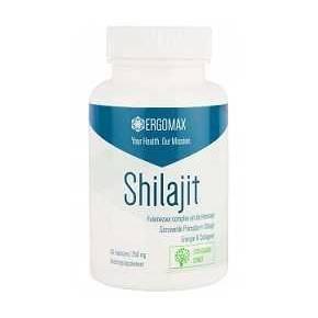 Shilajit 250 mg Ergomax - 60 cápsulas - Acido fulvico