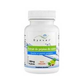 Extracto de Semillas de Uva 150 mg Dynveo 60 cápsulas