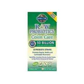 Raw Probiotics Colon Care 50000 millones 30 cápsulas - Garden of Life