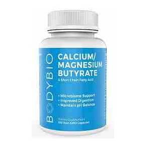 Butirato Calcio/Magnesio BodyBio 600 mg 100 cápsulas