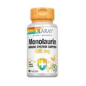 Monolaurin 500 mg Solaray 60 cápsulas