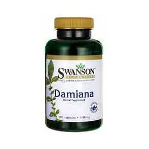 Damiana 510 mg Swanson 100 cápsulas