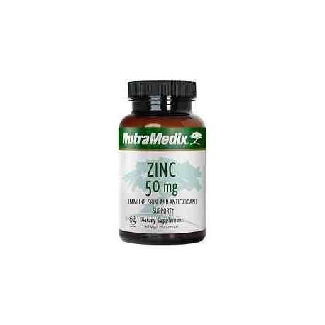 Zinc 50 mg Nutramedix 60 cápsulas