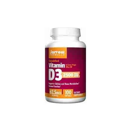 Vitamina D3 2500 UI Jarrow 100 cápsulas