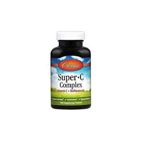 Super-C Complex Carlson Vitamina C y Bioflavonoides 100 tabletas