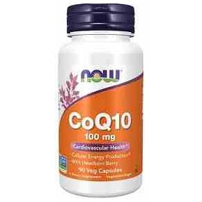 CoQ10 100 mg NOW con Espino 90 cápsulas