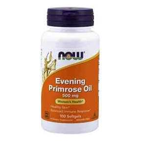 Evening Primrose Oil - Aceite de Onagra 500 mg NOW 100 cápsulas