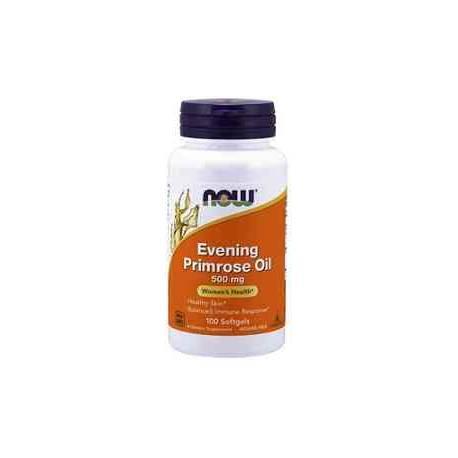 Evening Primrose Oil - Aceite de Onagra 500 mg NOW 100 cápsulas