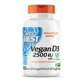 Vegan D3 2500 UI Doctor Best 60 cápsulas - Vitamina D3