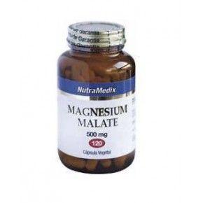 Malato de Magnesio Nutramedix, 120 cápsulas, 500 mg.