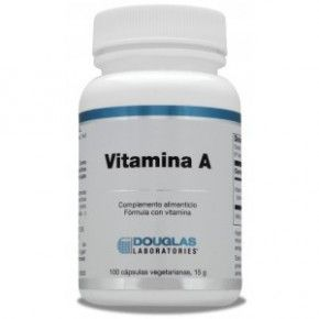 Vitamina A Douglas, 100 cápsulas, 4000 UI. Cápsulas de vitamina A.