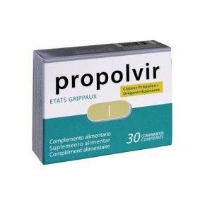 Propolvir Bioserum, 30 comprimidos. Própolis, equinácea, orégano y flor de jara.